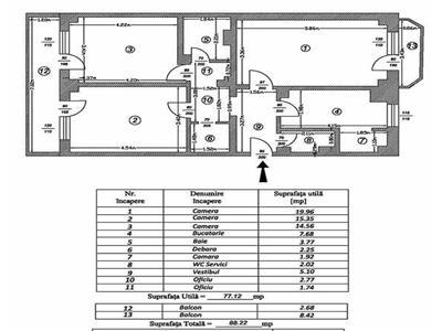 vanzare apartament 3 camere decebal bloc monolit Bucuresti