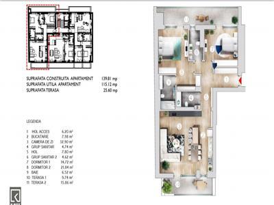 apartament 3 camere kiseleff-imobil nou- Bucuresti