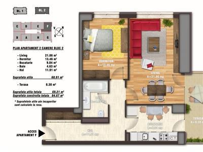 apartament 2 camere bloc nou nerva traian Bucuresti