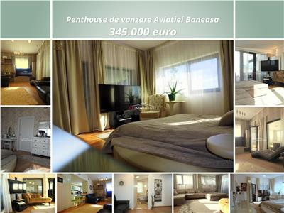 penthouse aviatiei 4 camere lux 2 loc parcare Bucuresti