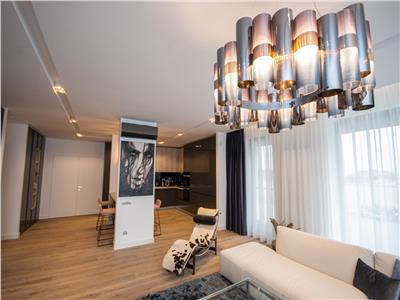 se ofera spre inchiriere penthouse in voluntari etaj 3,mobilat utilat lux,de la data de 1 iunie.