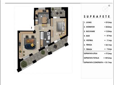 vanzare apartament 2 camere nerva traian bloc nou Bucuresti