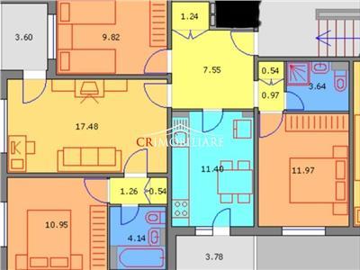 Apartament de vanzare 4 camere Dristor